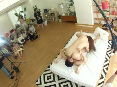 Real Chinese Wives Gather And Witness Actual Jav Filming