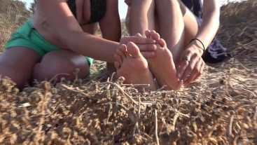 Transient Girls Rest Their Dirty Feet