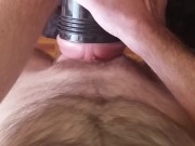 Dirty talking Daddy breeds his girl with a huge internal popshot in a moaning, body shaking orgasm