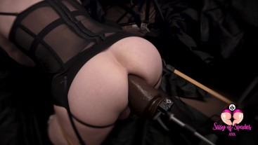 Fat Ass Sissy PAWG gets Hooked up to Bondage BBC Fuck Machine and gets Pulverised!