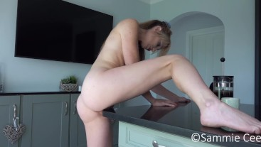 Humping The Kitchen Counter To Orgasm