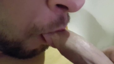 Self Suck My Small Cock and Cumshot