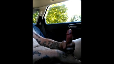 Jerking off in Home Depot Parking Lot *Huge dripping load*