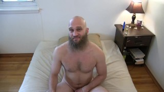 Movies Xxx - Hot Muscular Bearded Guy Jerks Off And Uses A Vibrator On His Ass For The
