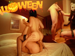 #HALLOWEEN2020 | Evil Cat chastises a tied victim in the most hot hell – papaxmama