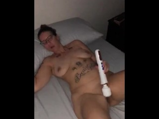 Amateur wife wakes up husband trying out Magic Wand