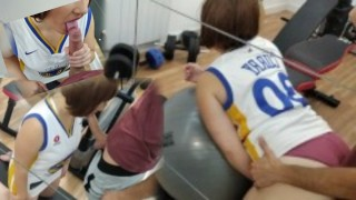 I FUCK ME AND SUCK HIS COCK IN THE UNIVERSITY GYM (PART 1)