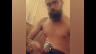 Videos Porn - Hot Bearded Guy Jacks Off And Moans