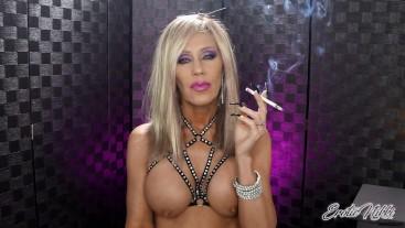Sensual And Sexy Topless Smoking - Nikki Ashton