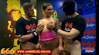 MILF Barbara is a Gangbang Piss Whore – 666 Bukkake