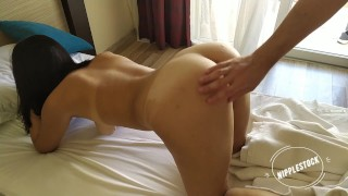 Girl got a big dick from the hotel servant