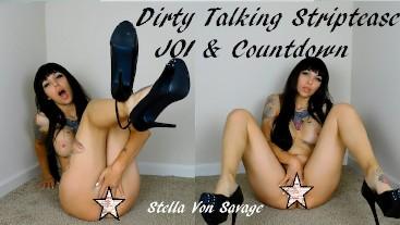 Striptease JOI & Dirty Talking Cum Countdown