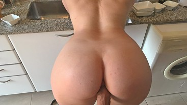 Passionate sex and blowjob in the kitchen with creampie. Amateur KaydenWithPaul