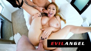 EvilAngel – Stacked Asian MILF Kianna Dior's Sloppy Threesome