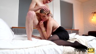 TUTOR4K Mature charmer spends time being scored instead of teaching