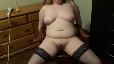 Tied up and made to cum by step dad, suck his cock