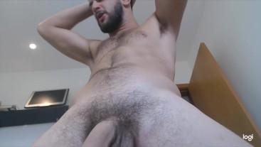 Swinging his dick like a baseball bat