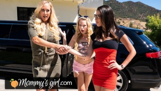 MommysGirl Hot MILF Brandi Love Enjoys A Threesome With Dava Foxx And Her Stepdaughter