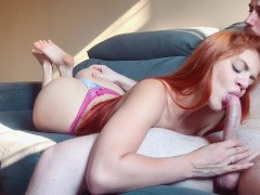 BLOWJOB SHOWING BAREFEET SOLES ENDS WITH HUGE FACIAL CUMSHOT - ANNY WARD