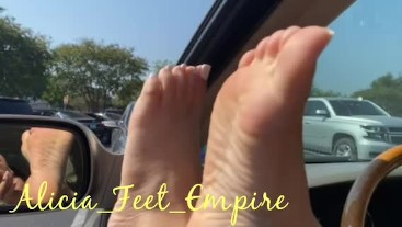 Sun Kissed Feet in the Parking Lot!!!  ***Teaser***