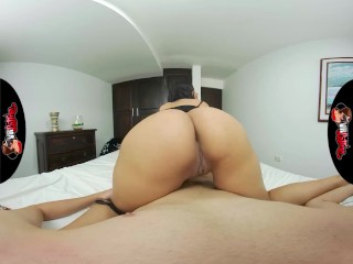 VRLatina – Very Cute Latin Teen With Big Ass Bedroom Sex – VR Experience