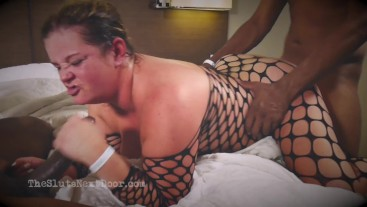 PAWG Gets 2 Huge BBC at Hotel part 2