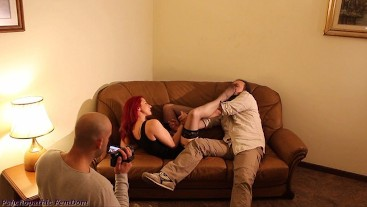 They Coerce Their Loser Friend To Smell Stockings And Feet, To Lick Feet And They Film Him