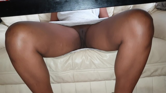 Panties Under Table