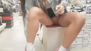 No panties in a shoe store