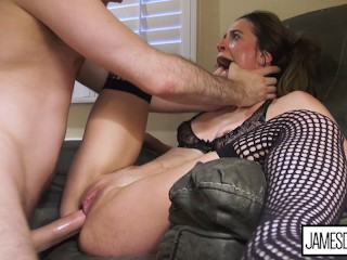 """OH MY GOD, I 'M GONNA CUM!"" – ROUGH SEX MAKES ABBIE MALEY CUM HARD 