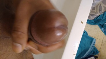 Cumming while waiting for more head