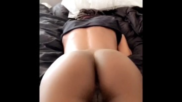 Tight Body Teen Grinding Pretty Pussy on the Bed