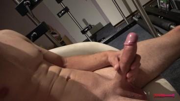 Huge wet cock close up masturbation - Got so horny watching porn