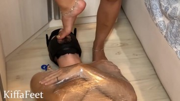 LONG PREVIEW Kiffa New slave training foot domination and domestic training FOOT WORSHIP FEMDOM