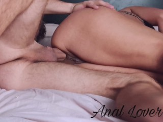 YOUNG STUDENT GETS ASS DESTROYED WITHOUT CONDOM - Anal lover 4k