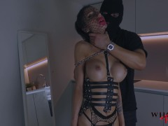 WHORNY FILMS- Submissive Hot Babe Teasing with Perfect Ass Getting Spanked and Sloppy Face Fucked