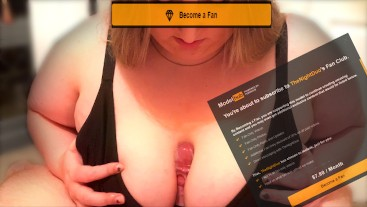 Join Our Fan Club To See Face! - Edging and Titfuck Preview