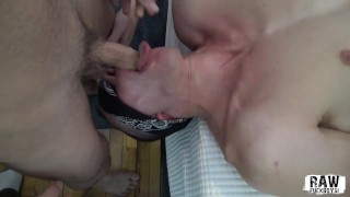 RawFuckBoys - Blindfolded Young Amateur Filmed Sucking fucked Massive Cock
