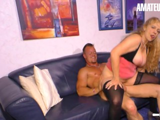 HausfrauFicken – Mature German Granny Seduced Young Neighbour For Kinky Sex