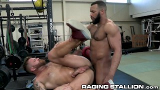 RagingStallion - Jay Landford Fucks Riley Mitchel In Public Gym