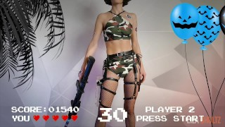 Counter-strike gamer cums from huge dildo Happy halloween kittens