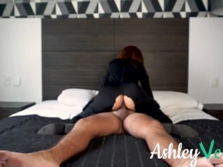 Halloween Fuck for Black Widow Costume Redhead - Ashley Ve