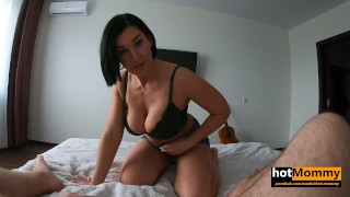 real MILF gf asks to call her step Mom
