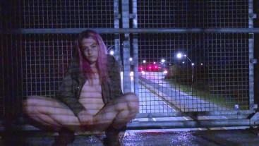 cute teen squirts all over public bridge // IsabellaFern //