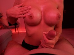 Best Bday Gift Ever From Slutty Step Sister - Sloppy Blowjob, Titty Fuck & Big Facial