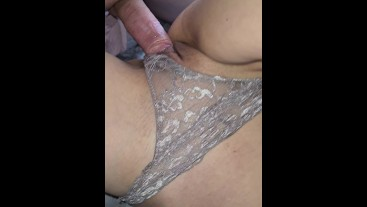 Tight Ass , sex without Condom while Period, Creampie