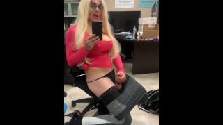 Mistress Chrissy - Service my hard dick like a good gay boy - Crossdresser Drag Queen Shemale Tranny