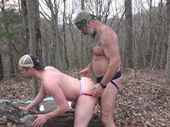 Daddy Bear Will Angell breeds Scott Ryder out in the woods