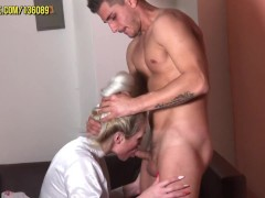 Dr Pamela Tickles Mauro and Gives Him a Blowjob