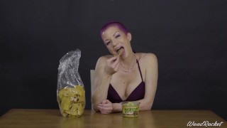 Porn Stars Eating: Lynn Vegas Devours Chips And Guac